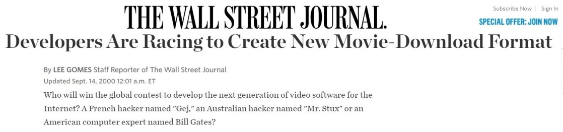 2000-09-14 WSJ article Mr Stux