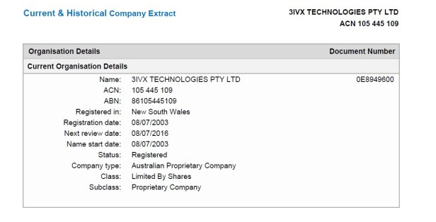 2003-07-08 3ivx technologies pty ltd 1