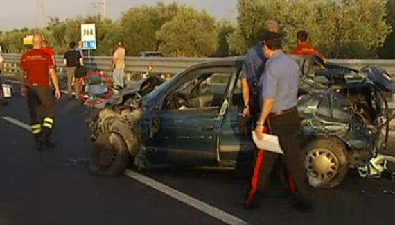 Accident or murder on Strada Statale 16, km 784