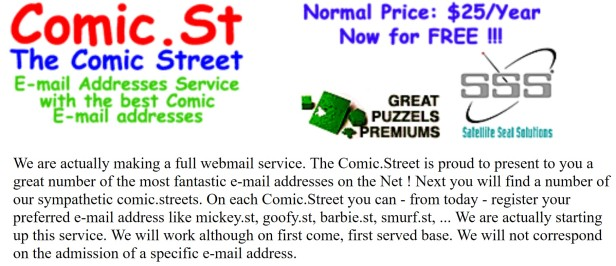 comic-st offers for free email service for kids or for kid lovers