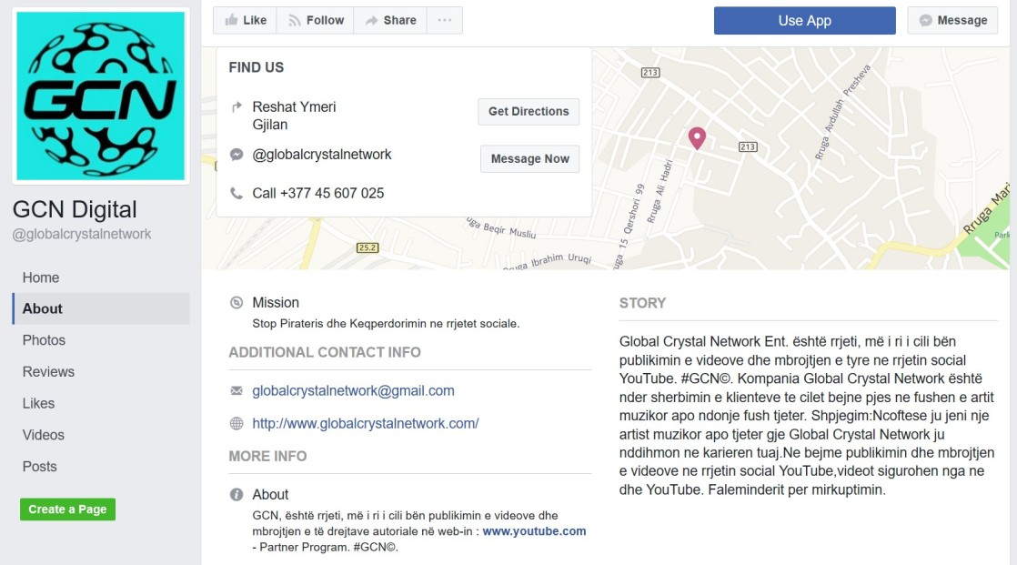 globalcrystalnetwork GCN Digital Facebook page About