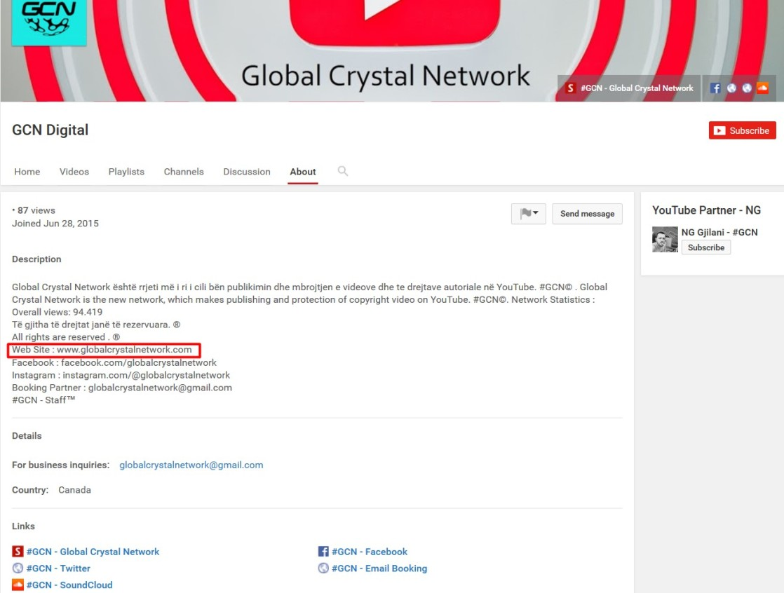 globalcrystalnetwork youtube