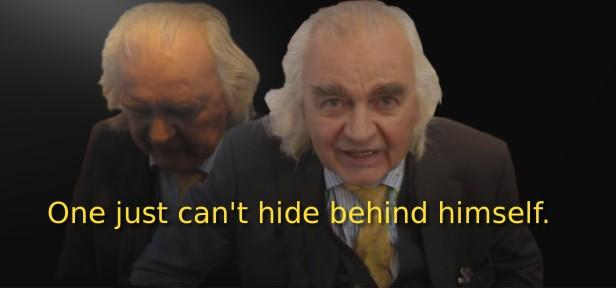 hiding behind itself