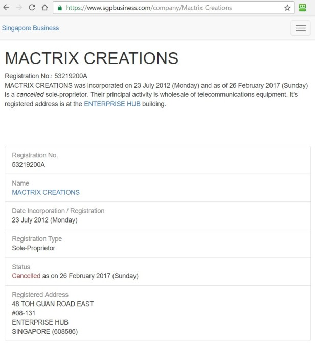 Mactrix Creations Singapore 2012-07-23