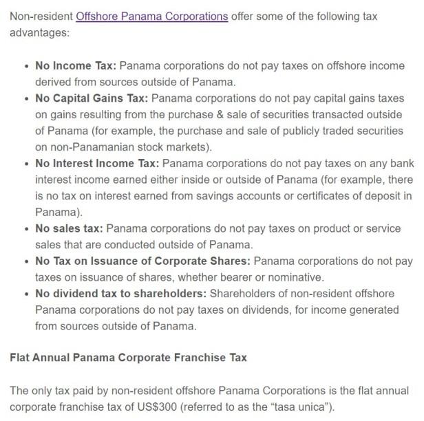 Panama tax