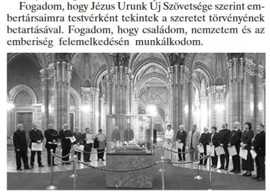 Real Hungarian oath is for elevation of Humanity